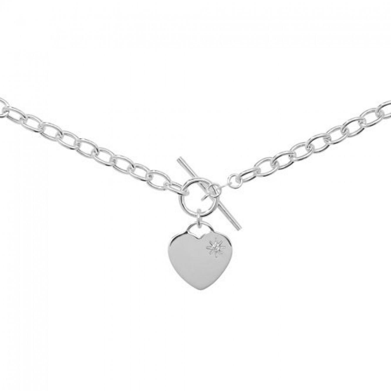 Silver Heart T Bar Necklace Necklaces Ideas