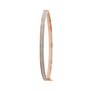 9ct Rose Gold Crystal Bangle