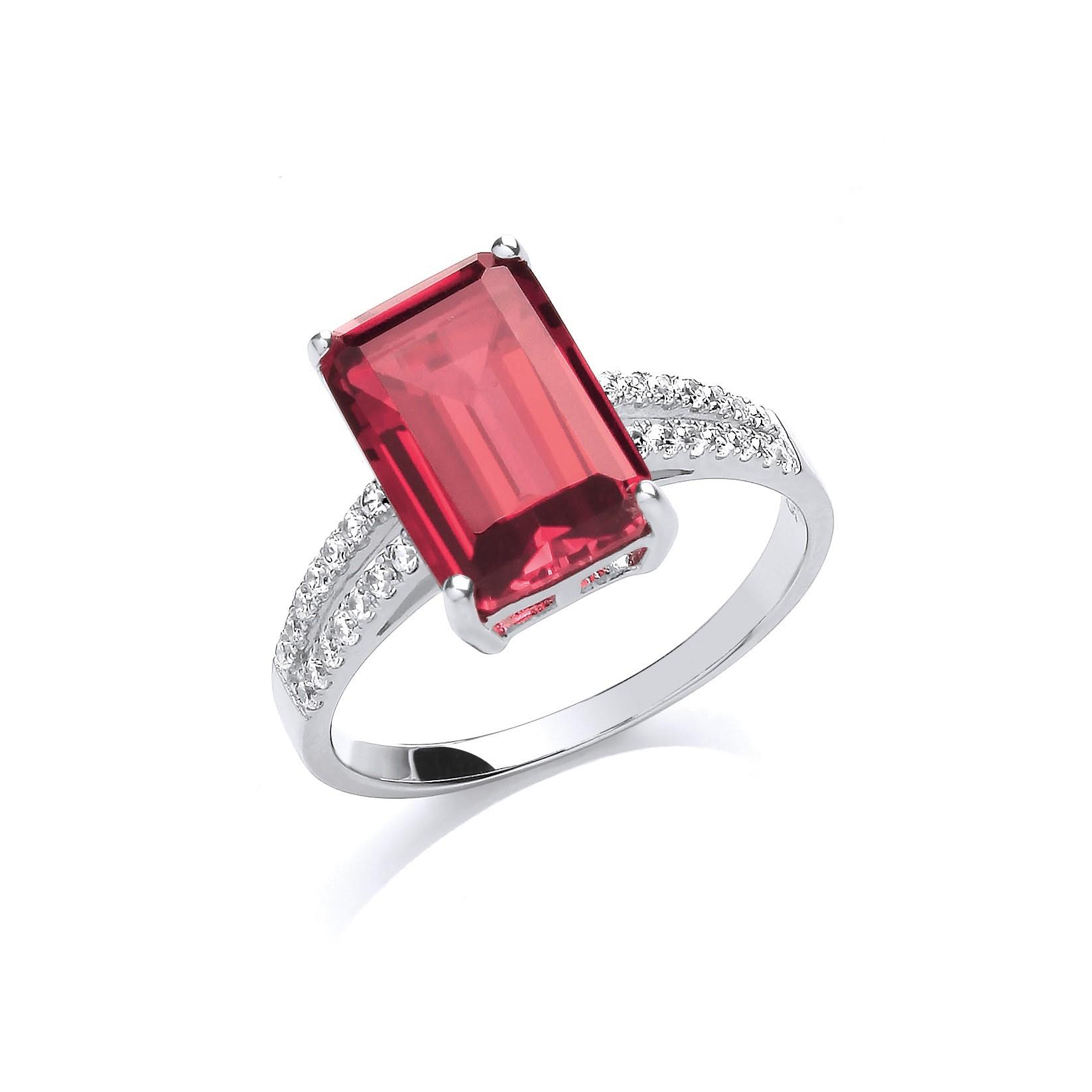 stunning silver ruby ring