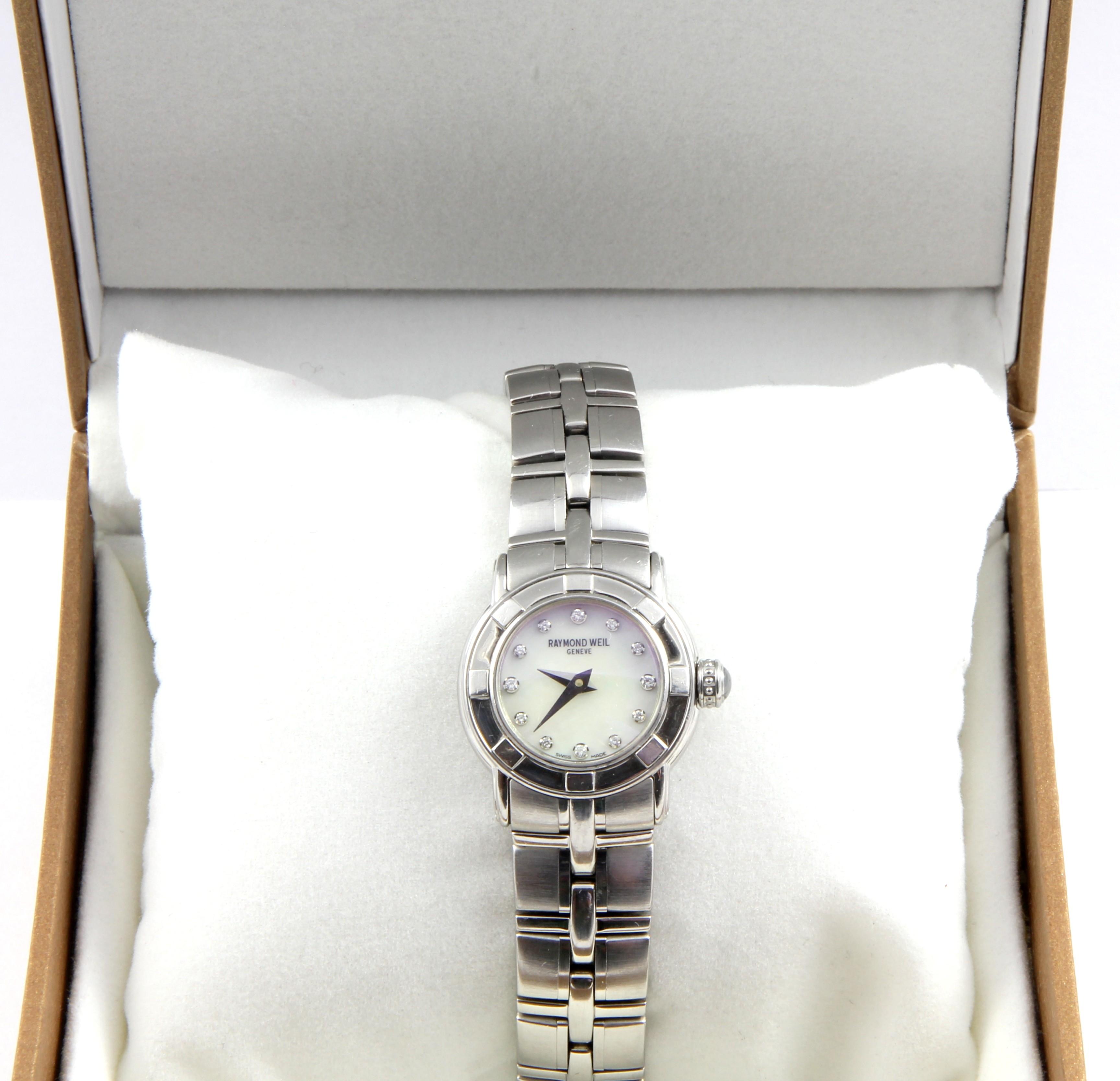 Ladies Raymond Weil 12 Diamonds Watch