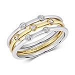 Stunning Set Of 3 Stacking Ring