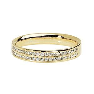 DIAMOND TWO ROW WEDDING RING