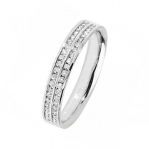 TWO ROW DIAMOND SET WEDDING RING