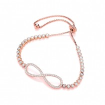 Rose Gold And Cubic Zirconia Infinity Bracelet
