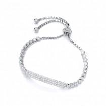 Silver Zirconia Crystal Tennis Bracelet