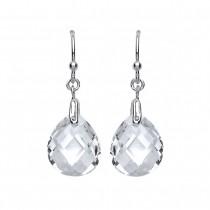 Silver Cubic Zirconia Fancy Drop Earrings