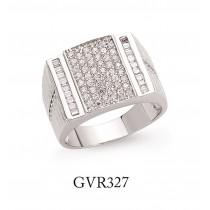 Silver Cubic Zirconia Gents Fashion Ring