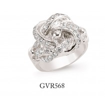 Silver Gents Cubic Zirconia Knot Ring