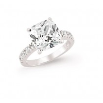 Silver Solitaire Dress Ring