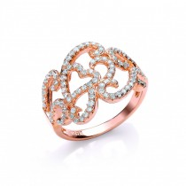 Rose Gold Zirconia Crystal Ring