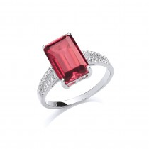 Stunning Silver Ruby Ring