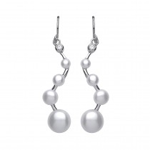 Silver Pearl Drop Earrings