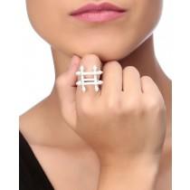 Silver Hash Tag Ring