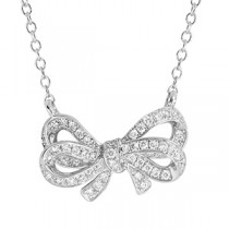 18ct White Gold Diamond Infinity Necklace