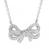 18ct White Gold Diamond Infinity Necklace