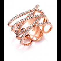 Stunning Tripple Crisscross Dress Ring
