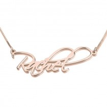 Rose Gold Script Name Necklace