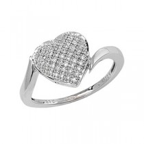 DIAMOND HEART SET RING