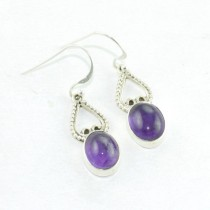 Sterling Silver Purple Amethyst Earring