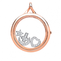 CREATE YOUR OWM MEMORY LOCKET ROSE GOLD OVER SILVER