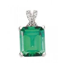 Vintage Style Emerald Pendant