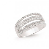 Silver Zirconia Dress Ring