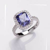 Silver Tanzanite Dress Ring