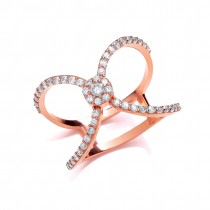 Rose Gold And Zirconia Crystal Ring