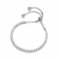 SILVER CRYSTAL ADJUSTABLE BRACELET