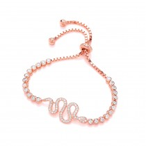 Rose Gold And Zirconia Crystal Bracelet