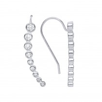Stunning Silver Crystal Drop Earrings