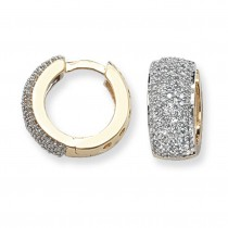 9ct Yellow Gold 0.76ct Diamond Huggie Earrings