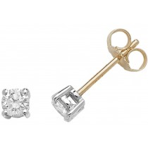 18CT DIAMOND STUD EARRINGS