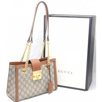 Sold ! GUCCI Padlock Small Gg Supreme Canvas Shoulder Bag in Neutrals