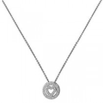 Silver Necklace With Crystal Heart Pendant