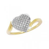 DIAMOND HEART SET RING
