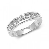Gents 1.00ct Diamond Half Eternity Ring