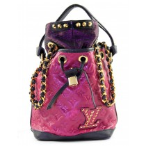 Louis Vuitton Ltd Edition Double Jeu Neo Noe Cranberry Bucket Bag