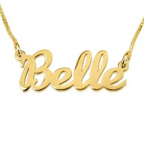 24K Gold Plated Handwriting Name Necklace