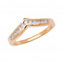9ct Yellow Gold 0.25ct Channel Set Diamond Ring