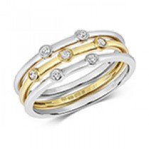 Stunning Set Of 3 Stacking Ring