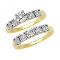 STUNNING BRIDAL SET OF 2 RINGS