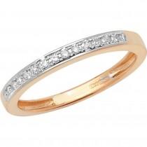 9ct Yellow Gold 0.10ct Diamond Claw Set Eternity Ring