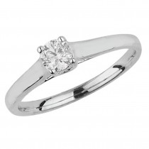 9ct White Gold 0.35ct Diamond Solitaire