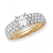 9ct Yellow Gold Zirconia Crystal Ring