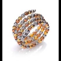 Tri- Coloured Twist Ring