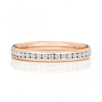 Stunning Rose Gold Chanel Set Diamond Eternity Ring