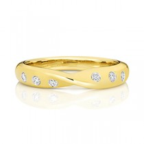 18CT DIAMOND CROSSOVER BAND