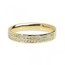 DIAMOND TWO ROW WEDDING RING