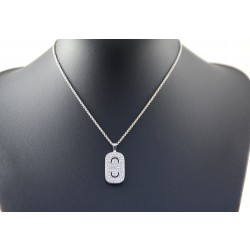 Bvlgari Parentesi 18k White Gold Necklace With Diamond Pendant